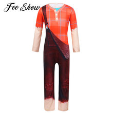 Kids Boys Long Sleeves Digital Printed Jumpsuit Bodysuit Halloween Cosplay Theme Party Dress Up Costume Boys Clothes(China)