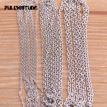 PULCHRITUDE 5 Meters/lot 3 Size Stainless Steel Squash Cross Necklace Chains For DIY Jewelry Findings Making Materials Handmade