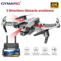 2021 neue P5 4K Berufs Drohne Dual Kamera Infrarot Hindernis vermeidung Mini Drone Faltbare Ein Schlüssel zu nehmen off RC Quadcopter