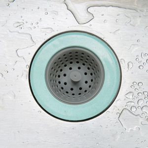Image 4 - Filtro de silicone para pia e chuveiro, 2 peças, filtro de silicone para drenagem de esgoto, 4 cores opcional