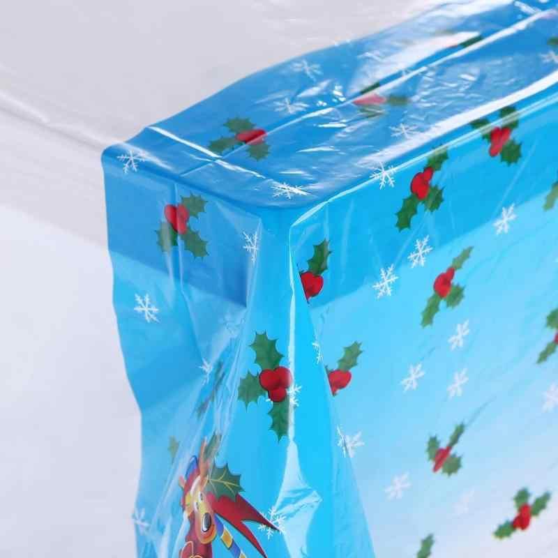 חג המולד מלבן PVC קריקטורה שולחן בד סנטה קלאוס איש שלג פעמון מכתב דפוס חד פעמי מפת שולחן מחצלת