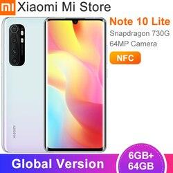 Глобальная версия Xiaomi Mi Note 10 Lite смартфон 6 ГБ 64 Гб Snapdragon 730G 6,47 дюймовым