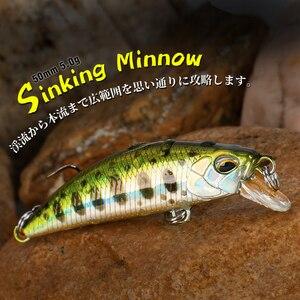 Tsurinoya 50mm 5g isca de pesca dw63 afundando água mini minnow hard lure fluxo pesca wobblers manivela isca truta isca jerkbait