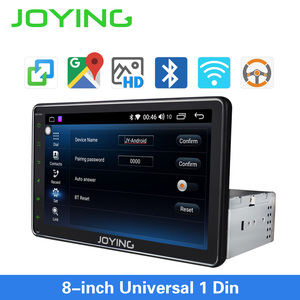Image 3 - JOYING single din universal car radio 8 inch IPS screen autoradio head unit GPS suport mirror link& fast boot&s*back up camera