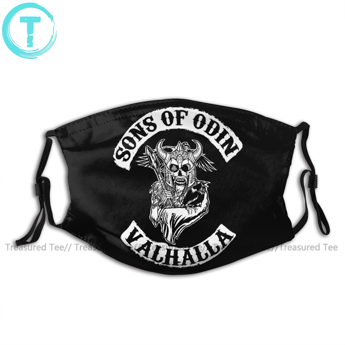 Sons Of Anarchy Mouth Face Mask Sons Of Odin Valhalla Chapter Facial Mask Cool Fashion With 2 Filters For Adult