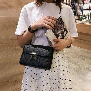 Image 3 - Small Messenger Chain Bag For Women 2020 Pu Leather Ladies Black Crossbody Bags Designer Luxury Woman Summer Shoulder Modis WE12