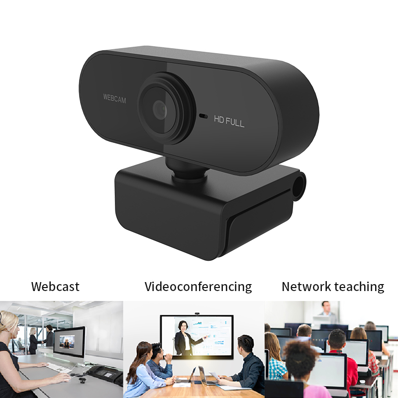 Webcam 1080P High-definition Webcam, Used for Microcomputer Game Live Video Call Conference Work and With Microphone USB Plug