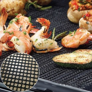 Image 2 - Security Grid BBQ Mat With Heat Resistance BBQ Mesh Grill Mat Non stick Barbecue Grilling Mats Baking Mat For Outdoor Activities
