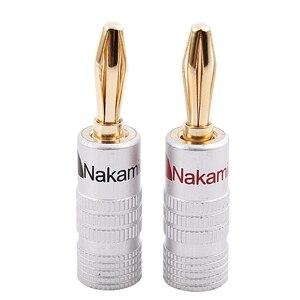 Image 1 - جديد 24 قطعة 24K الذهب Nakamichi المتحدث الموز التوصيل الصوت وصلة مرفاع