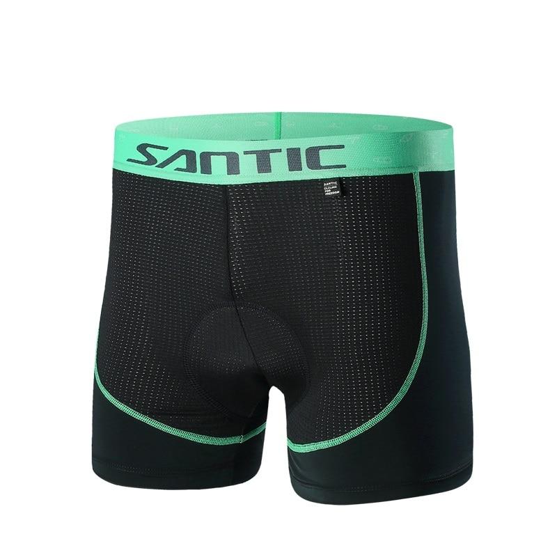 Santic Men Cycling Padded Underwear Shorts Summer Coolmax 4D Pad Shockproof SANTIC R-FEEL Road MTB Cycling Clothings