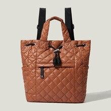 Soft PU Drawstring Bucket Bag for Women Wide Strap  Backpack Designer Handbags Fashion Lady Commuter Air Cushion Tote Bags 2021