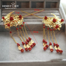 High Quality Red Pearl Beads  Bridal Hairpin Wedding Hair Accessories bridal hair accessories