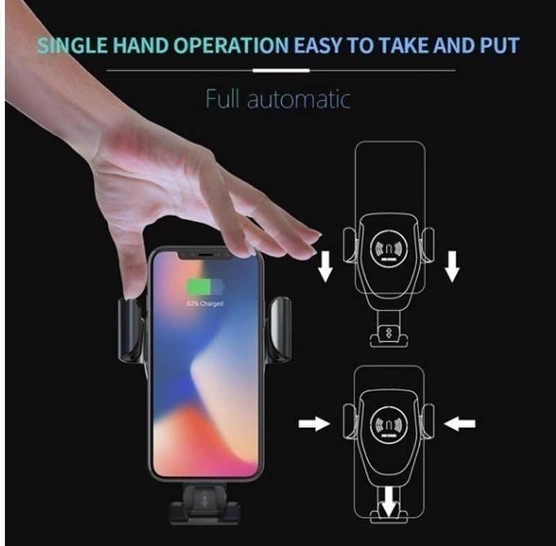 Fixation rapide de chargeur de voiture sans fil de serrage automatique pour Samsung S10 S9 S8 Note 8 9 10 pour iPhone X XS MAX