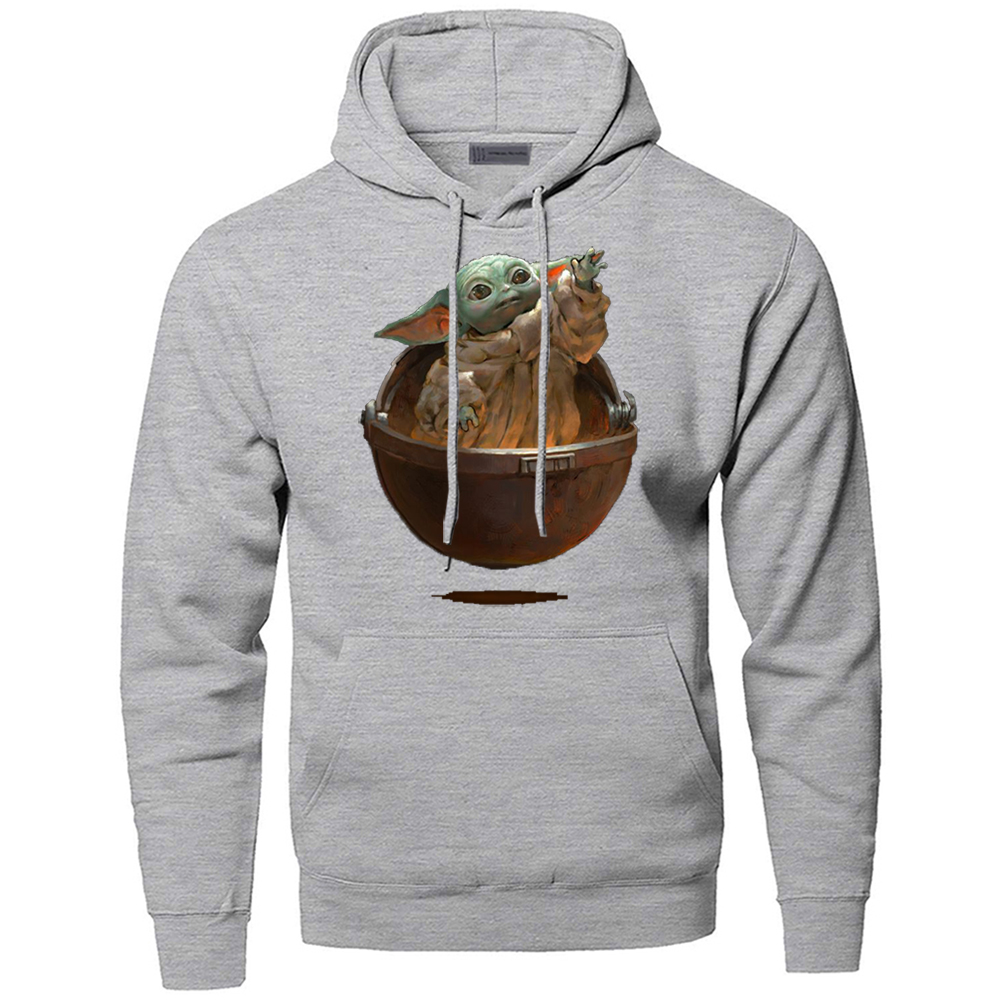 Child Yoda Cute Hoodies Men The Mandalorian Lovely Baby Yoda Star Wars Sweatshirt Hoody Sweatshirts Kawaii Starwars Pullover