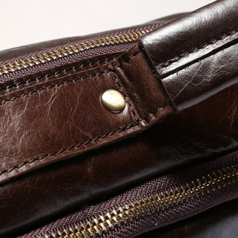 MVA Business porte-documents sacs hommes en cuir véritable sac pour Document 14 pochette d'ordinateur porte-documents en cuir sacs de bureau pour hommes 8001 - 5