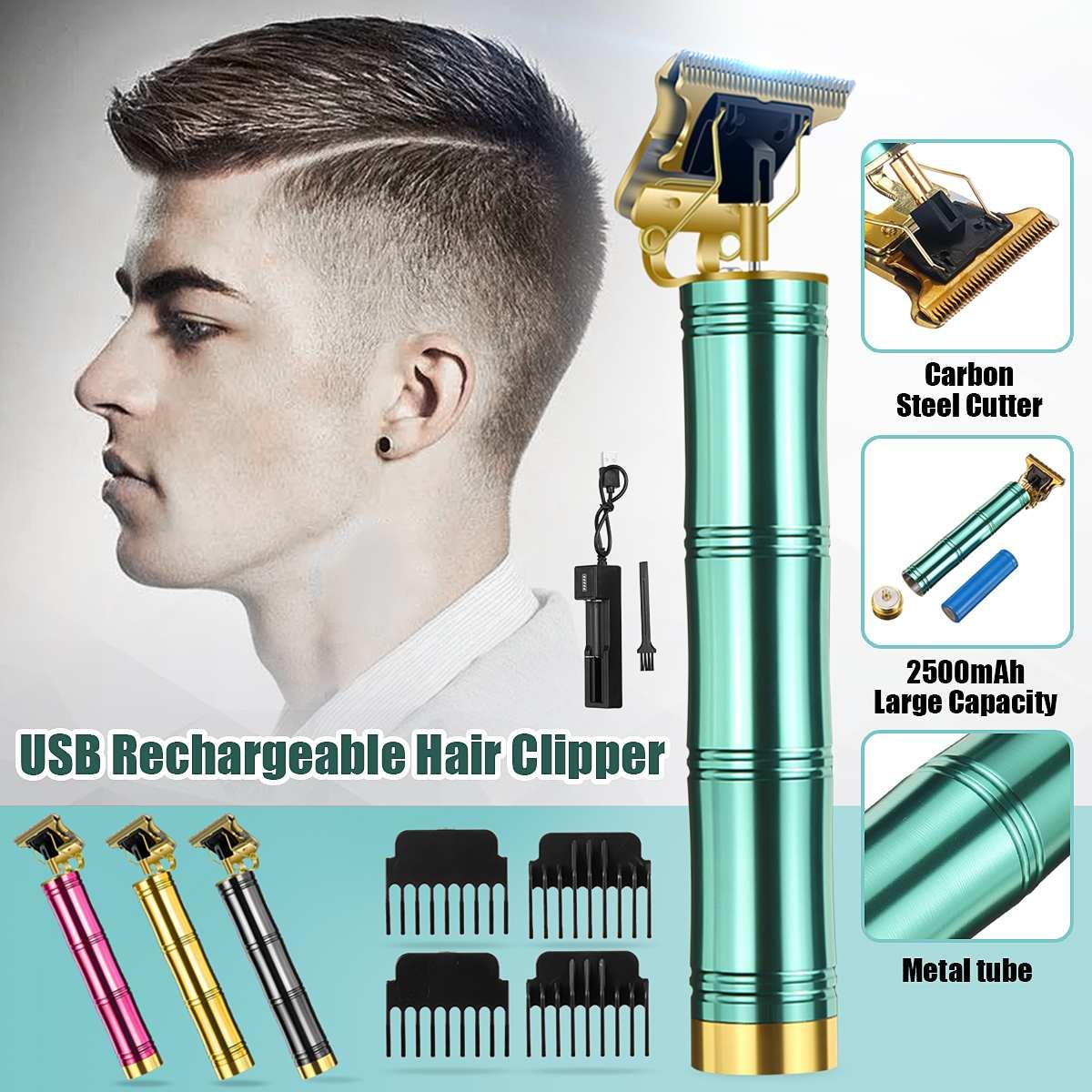 Cordless Electric Hair Trimmer 18650 Lithium-ion Battery Haircut Shaver Men Barber Hair Cutting Machine T-Blade Clipper Set