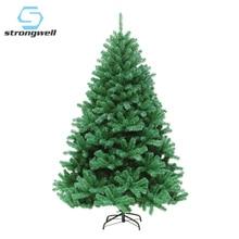 Strongwell 120/150/180/210ซม.การเข้ารหัสต้นคริสต์มาสประดิษฐ์ตกแต่งคริสต์มาสตกแต่งตกแต่งบ้านต้นไม้สีเขียว
