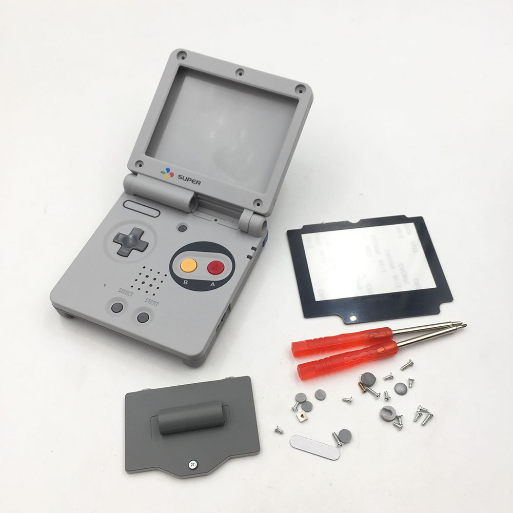For GameBoy Advance SP Classic NES Limited Edition Replacement Housing Shell Screen Lens For GBA SP Housing Case Cover(China)