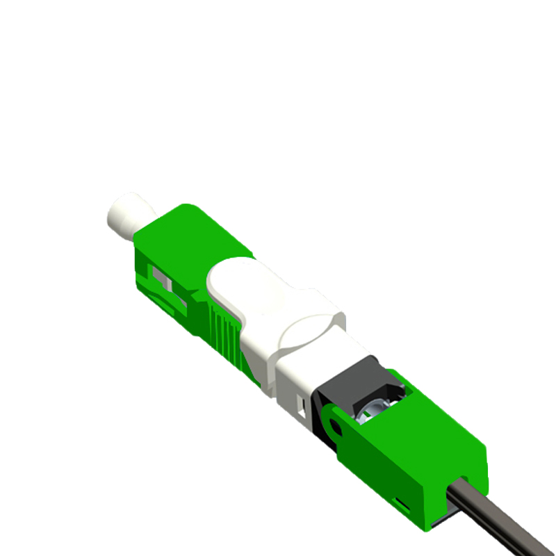 Free Shipping 100PCS/Lot FTTH ESC250D SC APCSingle-Mode Fiber Optic Quick Connector FTTH SM Optic Fast Connector