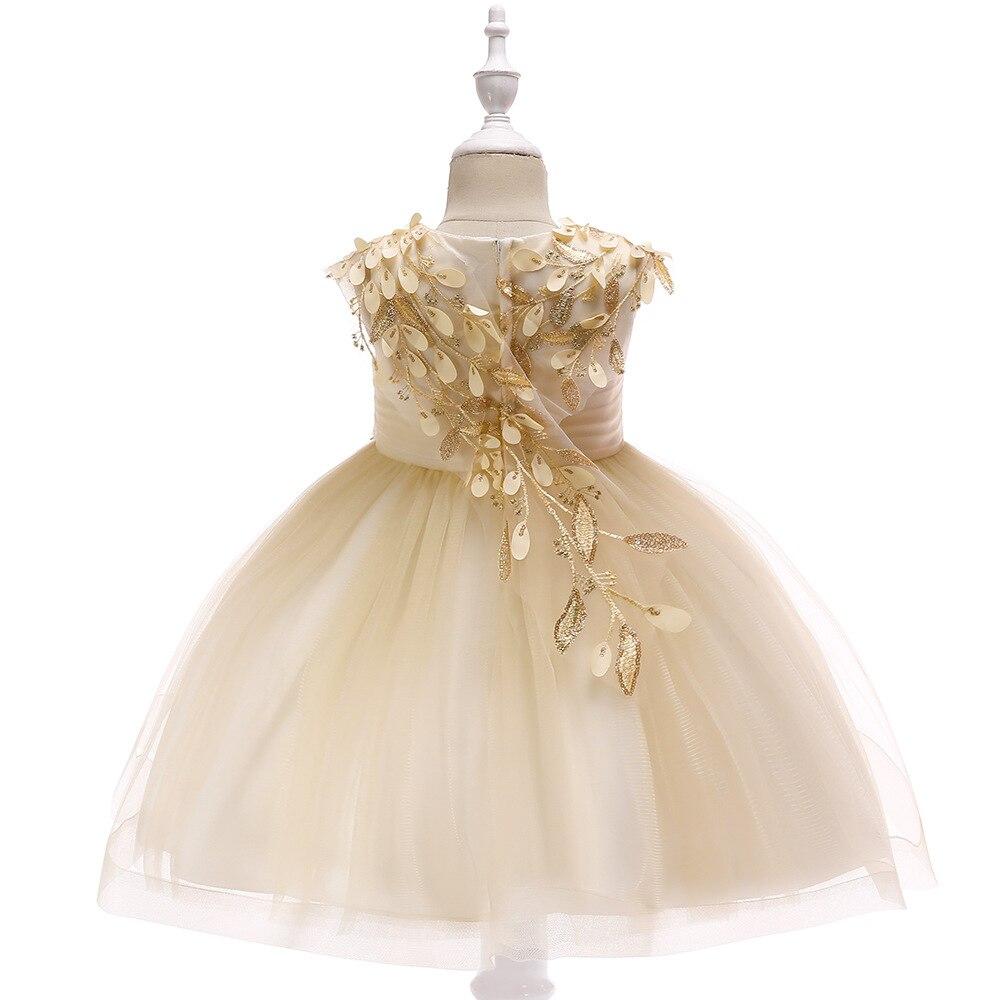 2019 New Style CHILDREN'S Dress Girls Stereo Flower Stickers Princess Skirt Fresh Petal Tutu Flower Boys/Flower Girls Wedding Dr