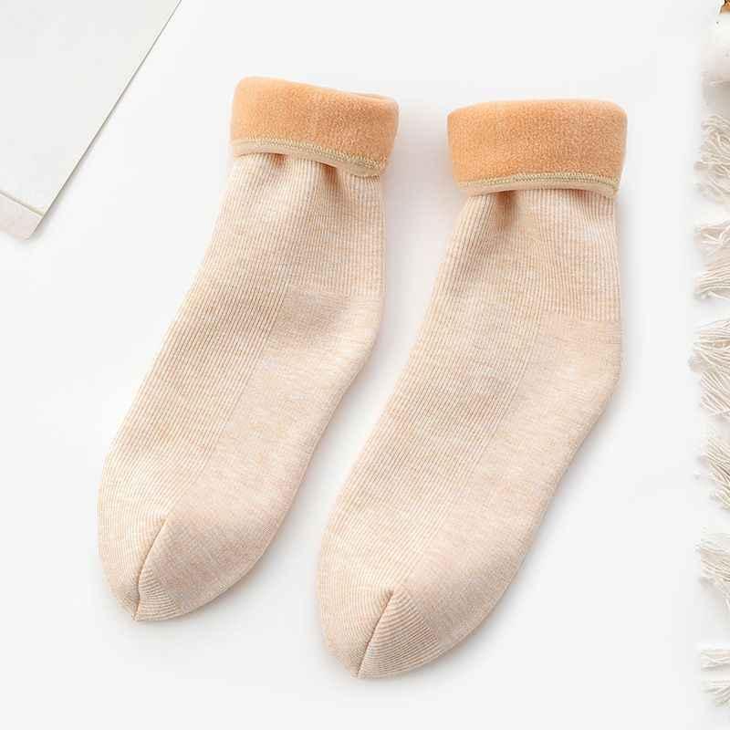 Người Phụ Nữ Mùa Đông Ấm Slouch Giày Vớ Len Tầng Tuyết Cotton Nữ Trong Ống Vớ Mắt Cá Chân Chất Lượng Cao