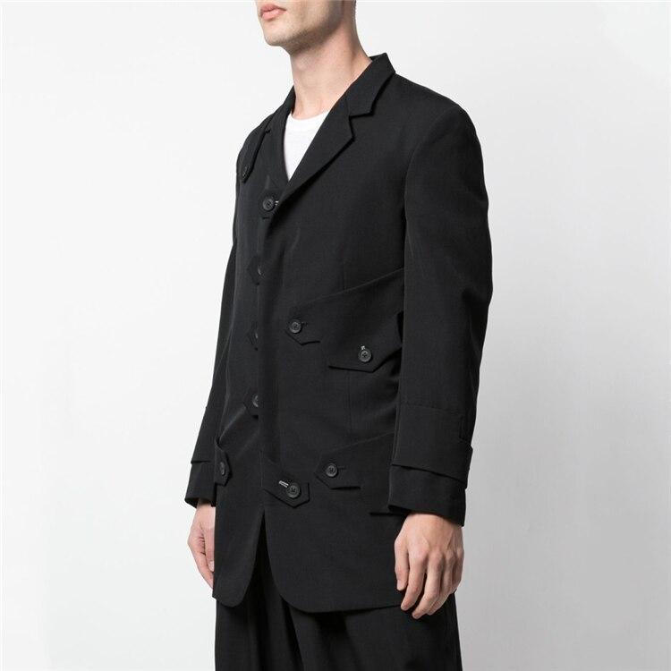 [custom] new dark European and American suit men loose blazer oversize multi-plate decorative coat