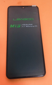 Image 1 - Original LCD Display Screen+ Touch Screen+ Front Frame For LEAGOO M13 MTK676 Quad Core free shipping