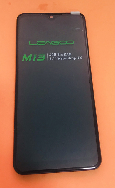 Original LCD Display Screen+ Touch Screen+ Front Frame For LEAGOO M13 MTK676 Quad Core free shipping