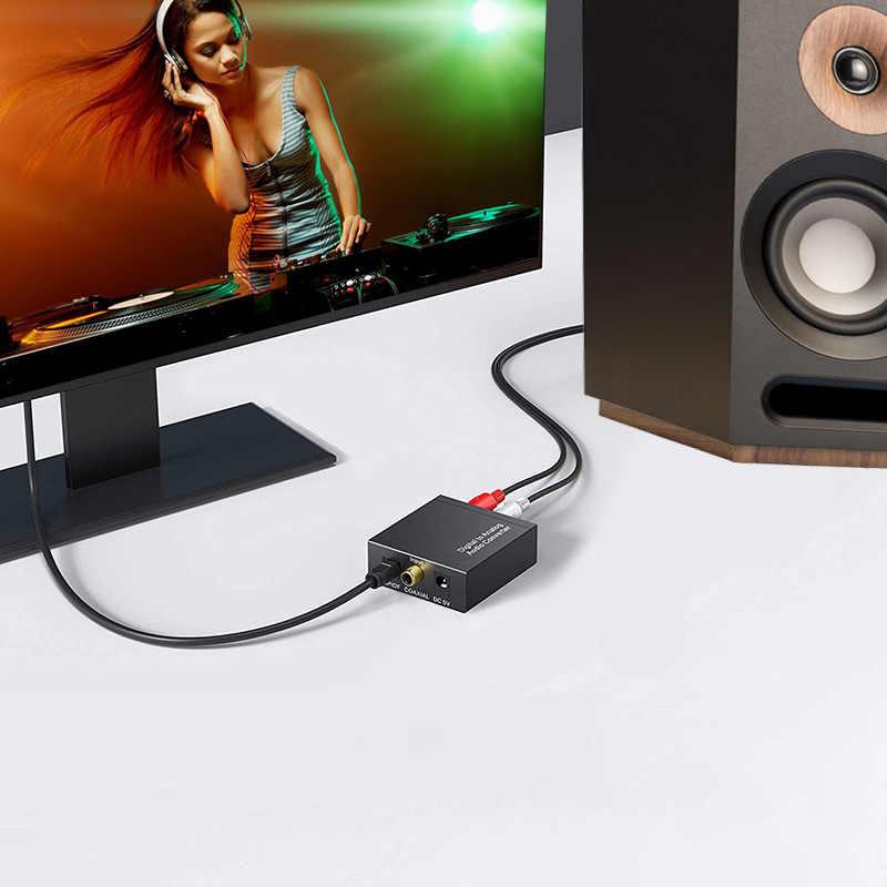 Convertitore da digitale ad analogico DAC SPDIF ottico L/R RCA Toslink adattatore Audio da jack ottico a 3.5mm per amplificatori DVD HD PS3 4 Apple TV