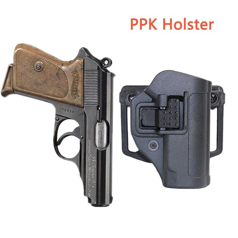 Avcılık spor PPK kılıf çanta kılıfı için WALTHER PPK PPK-L PPK/S 2238 tabanca kılıfı sağ el kemeri airsoft Paintball çekim devam ediyor
