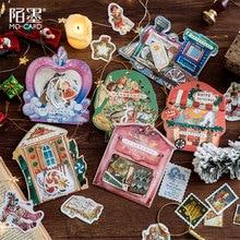 40 stücke/1lot Kawaii Schreibwaren Aufkleber Tagebuch Frohe Weihnachten Reisen Dekorative Mobile Aufkleber Scrapbooking DIY Handwerk Aufkleber