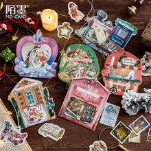 40pcs/1 הרבה Kawaii מכתבים מדבקות יומן החג שמח נסיעות דקורטיבי נייד מדבקות רעיונות DIY קרפט מדבקות