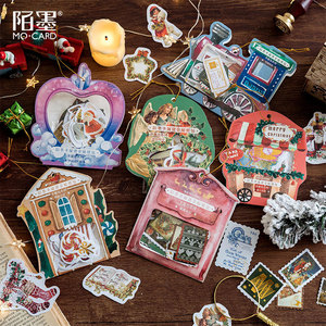 Image 1 - 40pcs/1lot Kawaii Stationery Stickers Diary Merry Christmas Travel Decorative Mobile Stickers Scrapbooking DIY Craft Stickers