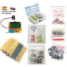Kit de componentes electrónicos para probador de ESR T4, diodo LED triodo capacitancia PNP/NPN LCR a 92, 1390 Uds., juego de resistores