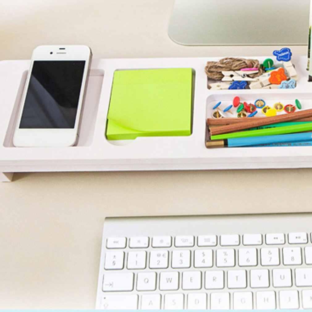 Masa depolama raf ofis malzemeleri masa üstü organiser depolama raf telefon klavye depolama kalem raf bölümü raf toptan