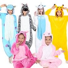 KIGUCOS נשים חורף פיג מה ילדים Cartoon סלעית תלבושות דינוזאור Kigurumi בעלי החיים פיג מות כל אחד פלנל Homewear