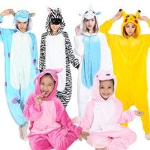 KIGUCOS Women Winter Pajamas Children Cartoon Hooded Costume Dinosaur Kigurumi Animal Pajama Warm All in One Flannel Homewear
