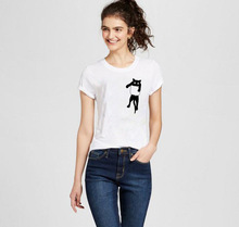Harajuku T-shirts Femme White O-neck  Cat Print T Shirt Plus Size