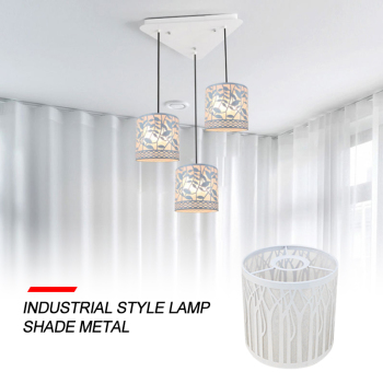 1PC INDUSTRIAL WIRE CAGE STYLE CEILING PENDANT LIGHT/LAMP SHADE METAL EASY FIT Hanging Home Pendant Light Cover baoblaze retro ceiling light shade cover pendant lampshade