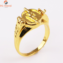 DC Movie The Flash Rings for Women and Men High Quality Gold Color Superhero Finger Ring Jewelry