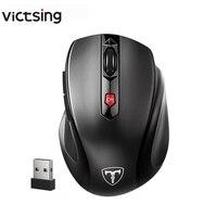 Mouse Sem Fio 2.4G 6 Botões Computador/Laptop Mouse Energe Saving Ergonômico Mouse DPI Ajustável Gaming Mouse Com Nano receptor