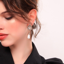 2019 Fashion Retro Set Crystal Simulated Pearl Women Dangle Earrings