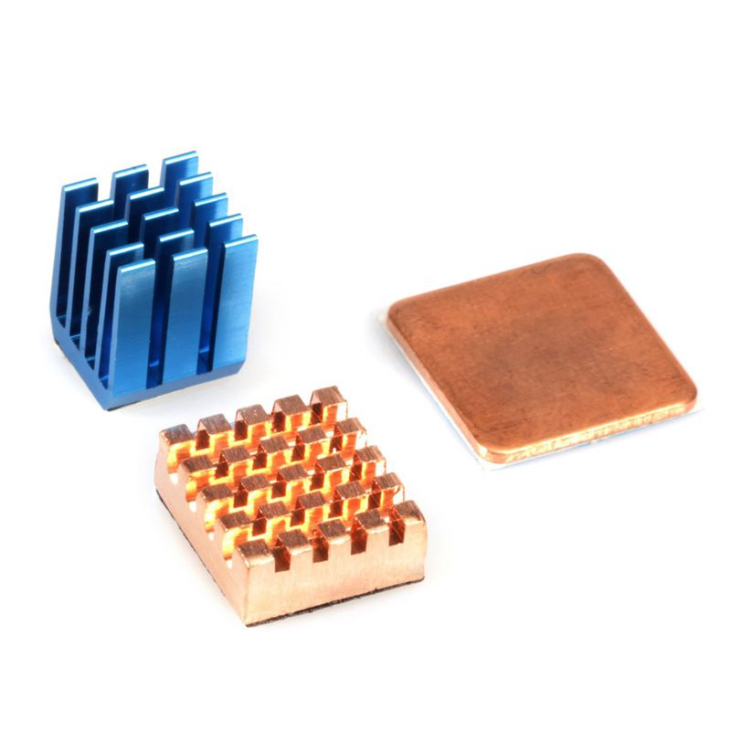 3 Pieces Heat Sink Set For Raspberry Pi 3,Pi 2,Pi Model B+ (Set Of 3 Heat Sinks)