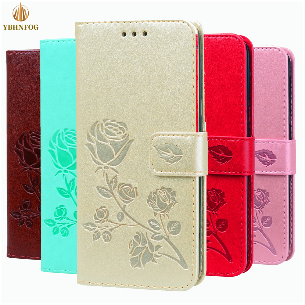 <font><b>3D</b></font> Rose Embossed Flip Case For <font><b>Xiaomi</b></font> A1 F1 5X Leather Wallet Cover For <font><b>Redmi</b></font> 4A <font><b>4X</b></font> 5A 6A 3S S2 Note 5 6 Pro Stand Card Bags image