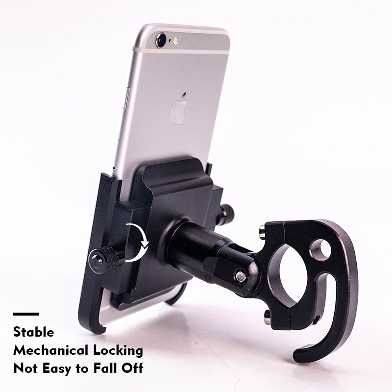 Motocycle Bicycle Mobile Bike Phone Holder CNC Handlebar Support Aluminum Alloy 360 Rotation MTB Road Bikepacking Accessories