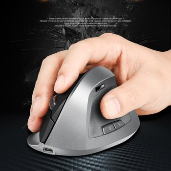 Pionowa gra komputerowa konsola biurowa bezprzewodowa pionowa optyczna mysz komputerowa ergonomiczna ładowalna mysz do gier tanie i dobre opinie albabkc CN (pochodzenie) 2 4 ghz wireless NONE