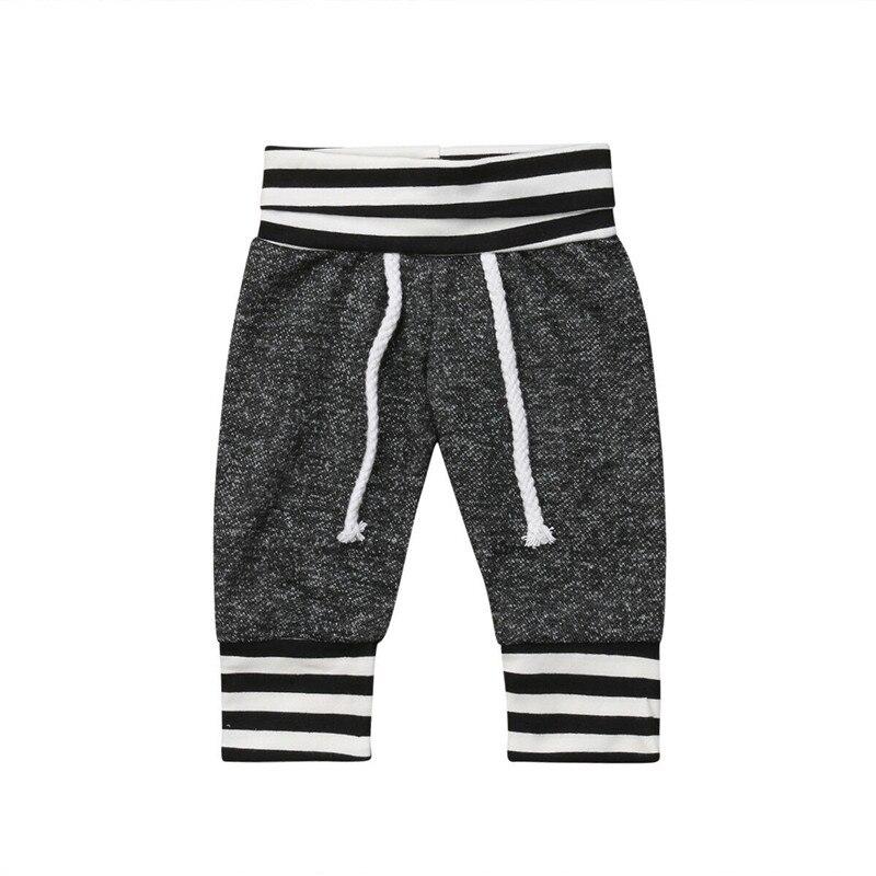 Pants Leggings Trousers Newborn Baby-Girls-Boys Bottom Toddler Casual Grey Striped