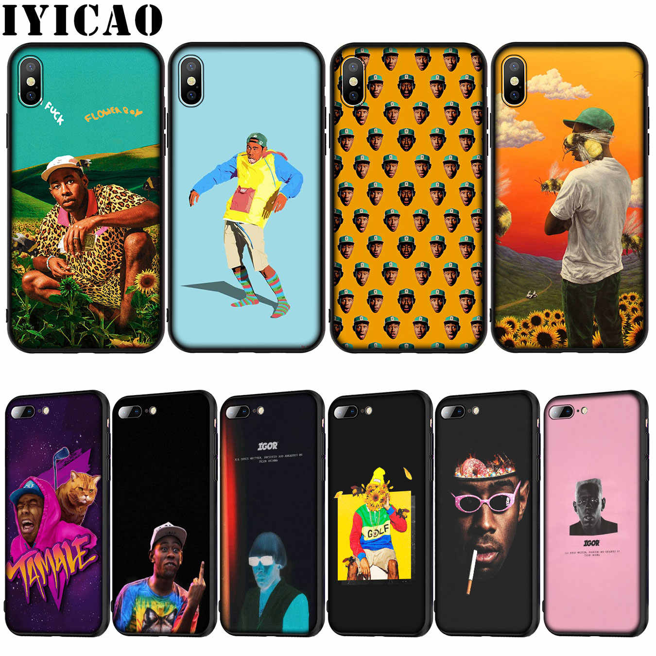 IYICAO Tyler The Creator Мягкий силиконовый чехол для iPhone XR X XS 11 Pro Max 10 6 6S 7 8 плюс 5 5S SE чехол для телефона