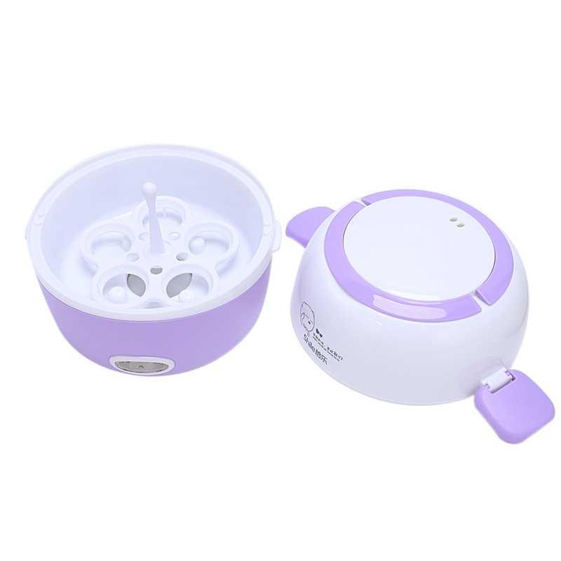 Nồi Cơm Điện Mini Nhiệt Làm Nóng Hộp Cơm 2 Tầng Di Động Hấp Thực Phẩm Nấu Bình Chứa Bữa Ăn Thực Phẩm Lunchbox Ấm (Hoa Kỳ plu