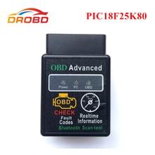 Narzędzie diagnostyczne OBD2 ELM327 V1.5 z chipem PIC18F25K80 ELM 327 V 1.5 Bluetooth 3.0 dla androida samochodowy czytnik kodów